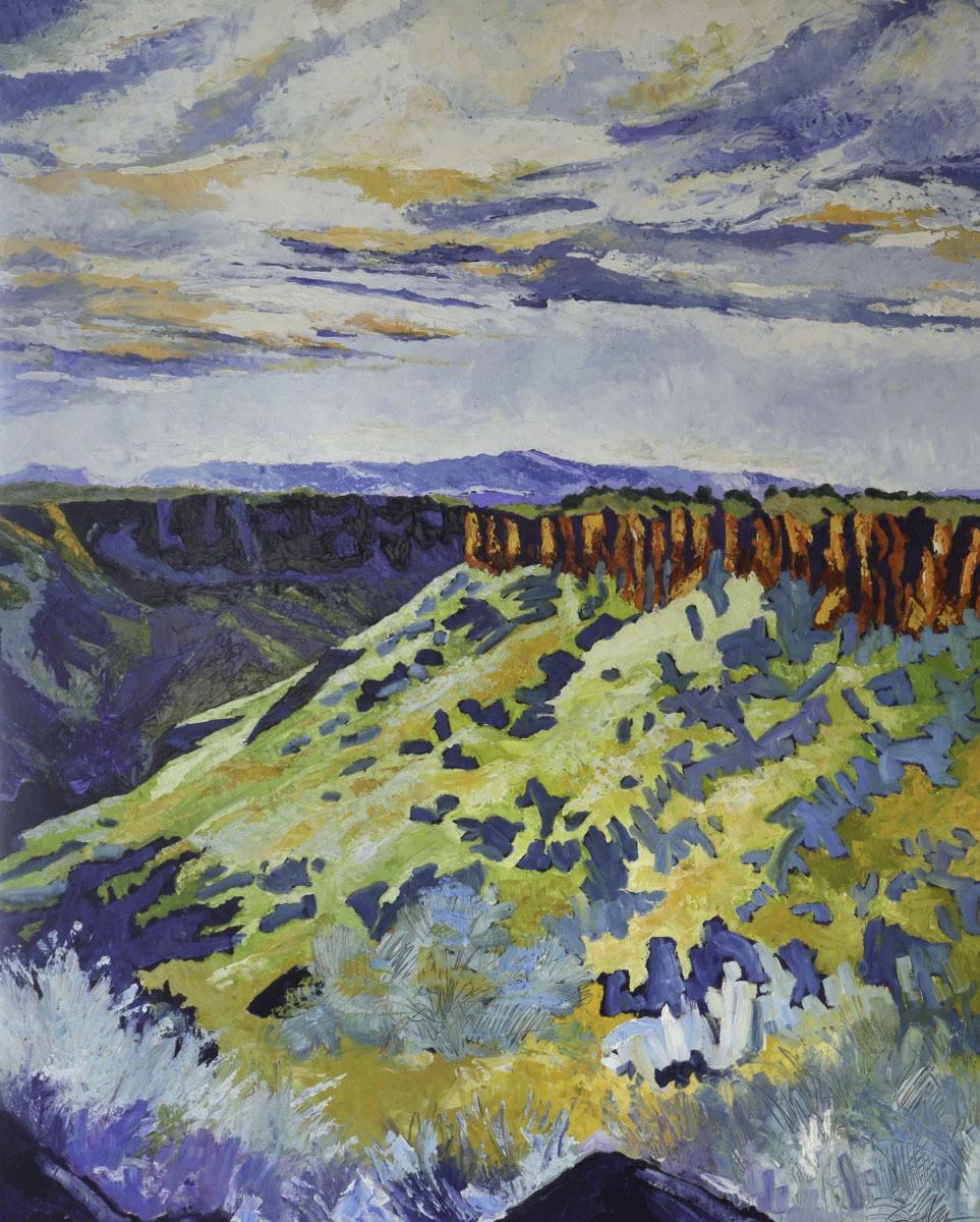 Canyon and Mesa 2, 48x60, 2018