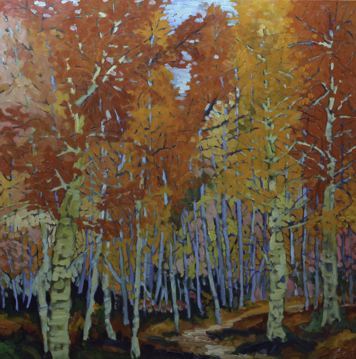 Path Through the Forest, 36x36, 2018 SOLD