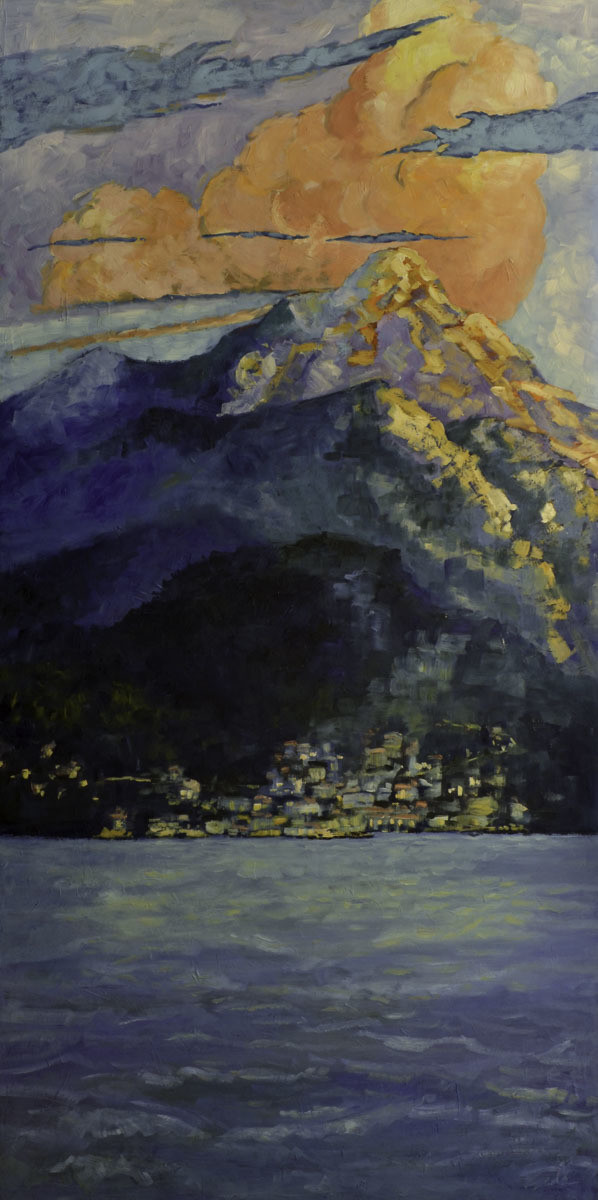 Village by the Ocean, 30x72, SOLD