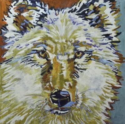Wolf 4, 36x36, 2017 SOLD