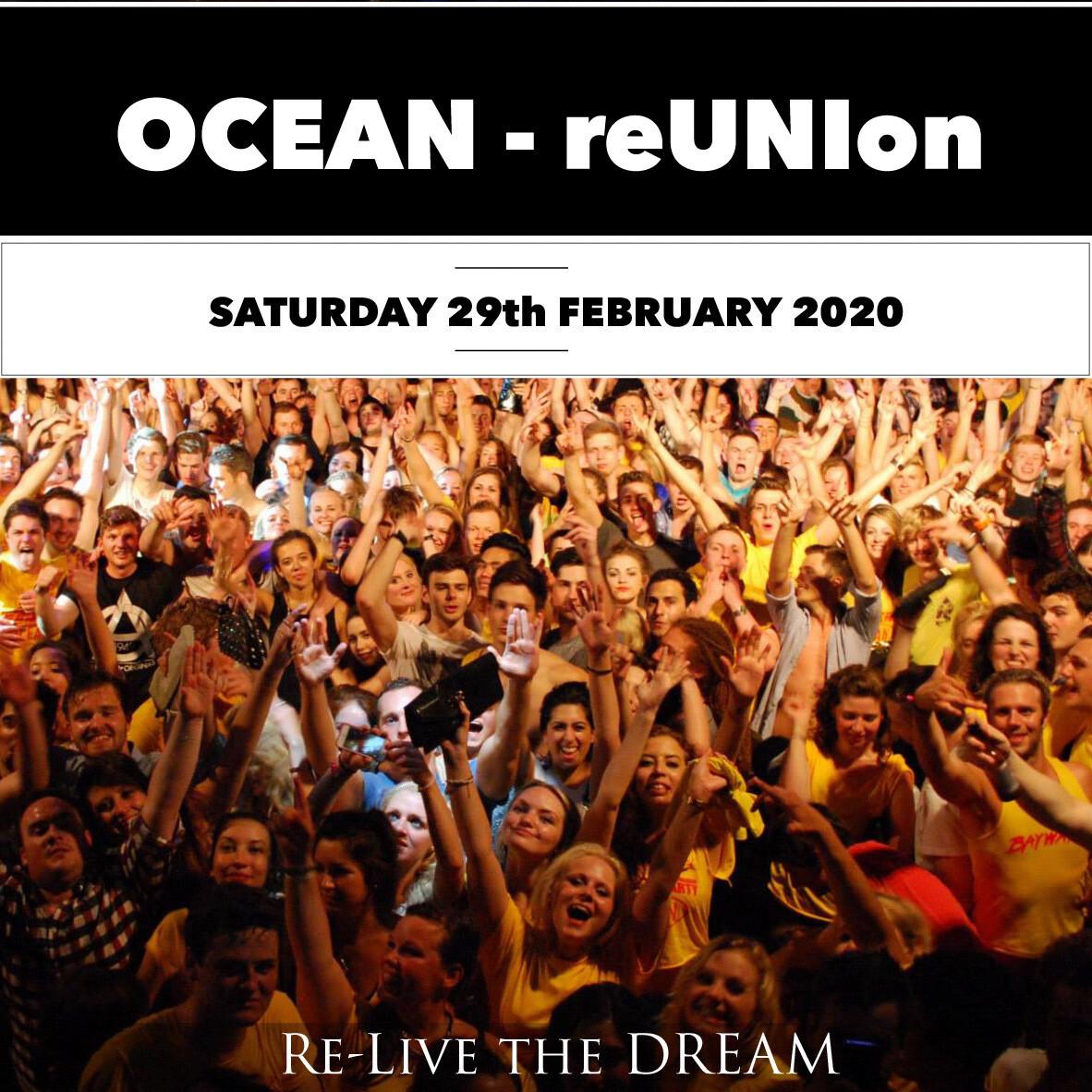 Ocean reUNion - Saturday 29th February 2020