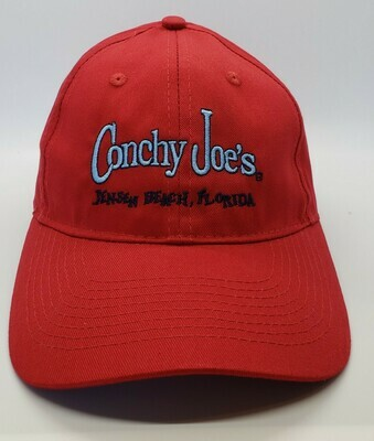 Cj's Red Adjustable Baseball Cap