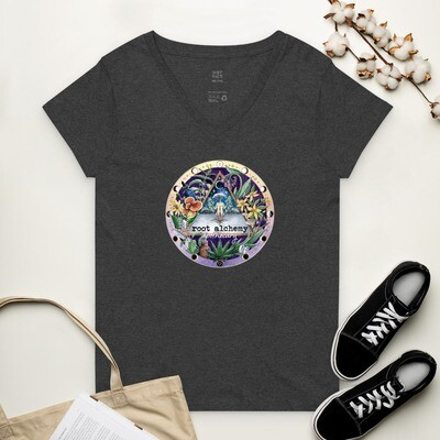 Apothecary Magic Women's recycled v-neck t-shirt