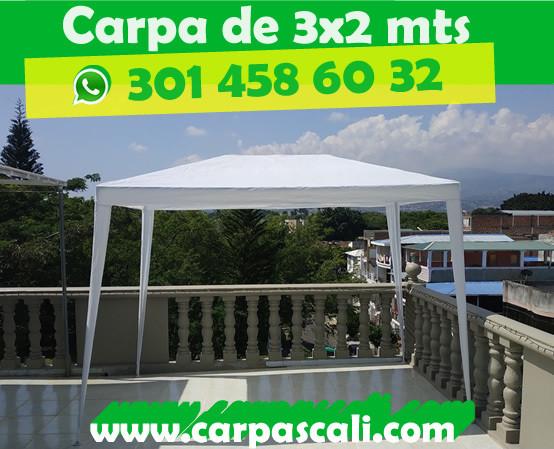 CARPA TOLDO PARASOL POLIETILENO BLANCA DE 3X2