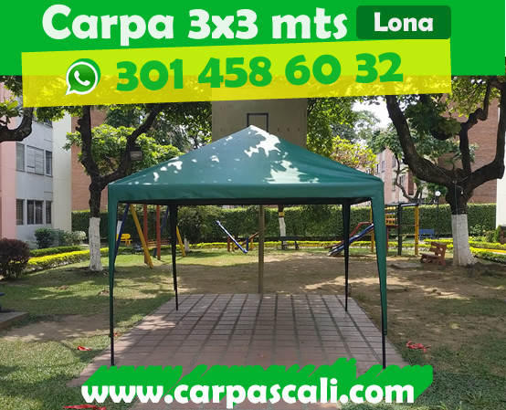 CARPA IMPERMEABLE DE 3x3 METROS LONA VERANO PVC