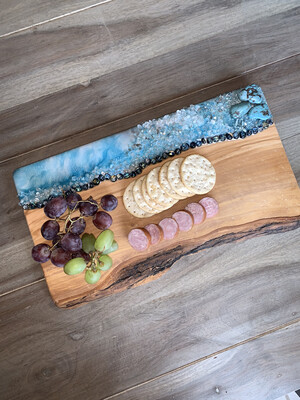 Cheese Board With Genuine Turquoise, available @ MukLuk Magpies Gift Store, Airdrie