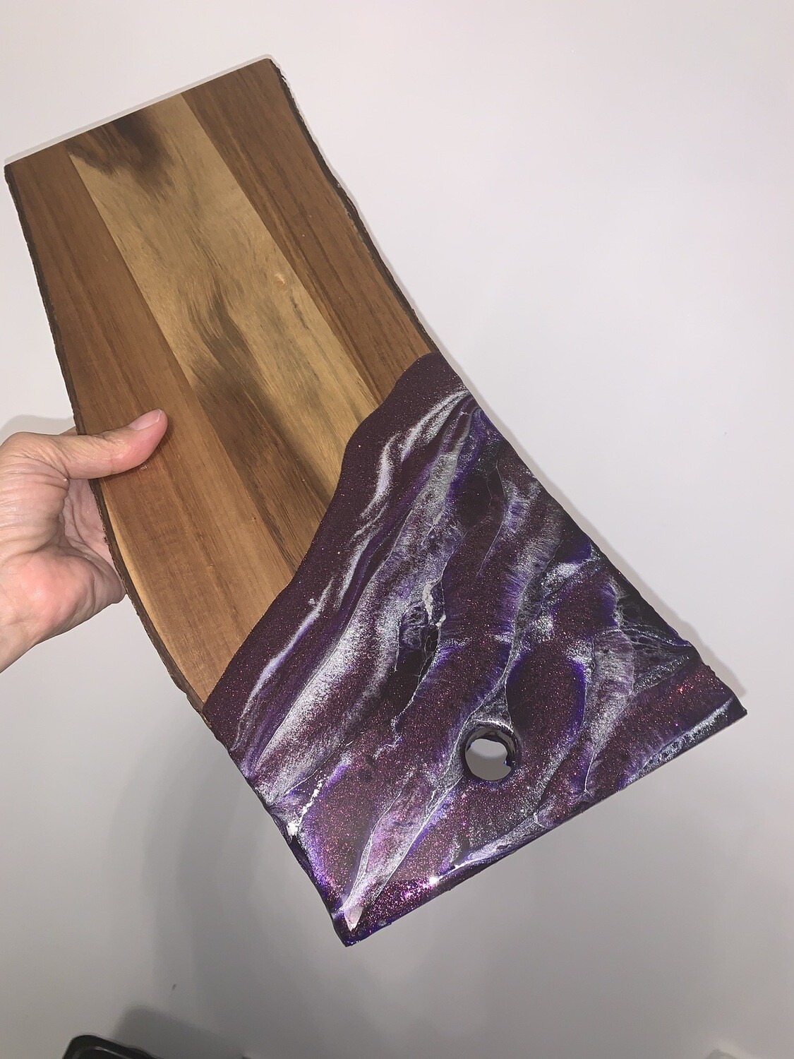 Cheese Board Purples & Silver On Live Edge @Johnsons Crossing Lodge, Yukon