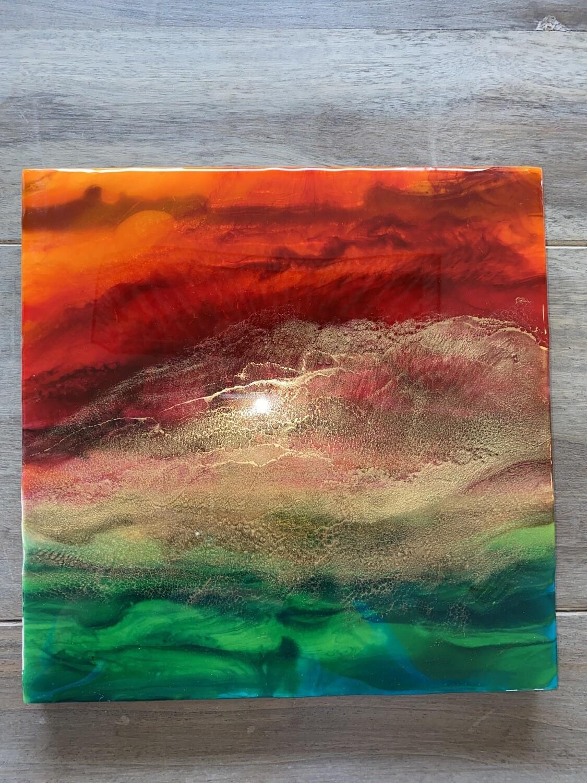 Landscape Aglow 2 @Mukluk Magpies Studio, Airdrie, Ab