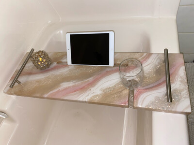 Bath Caddy, Pinks In Whites (on Sale)