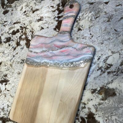 Charcuterie Paddle Board Lg maple Pinks Swarovski
