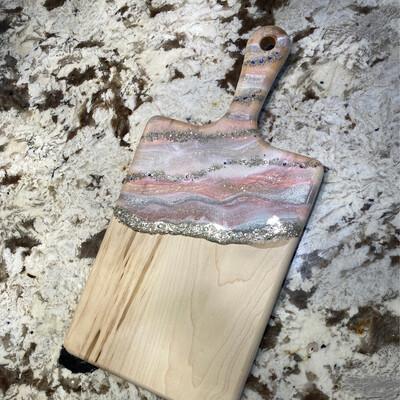 Charcuterie Paddle Board Maple Pinks W Swarovski