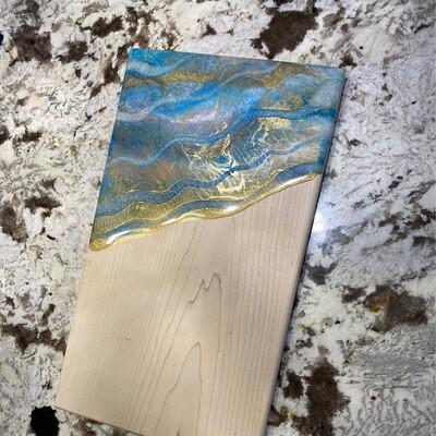 Cheese charcuterie board Maple Calm Blue