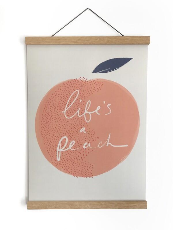 Life's a Peach A3 print