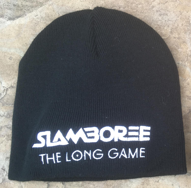 Black Pull-on Beanie Hat - Slamboree The Long Game