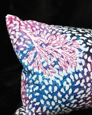 Pink Coral Batik Cushion