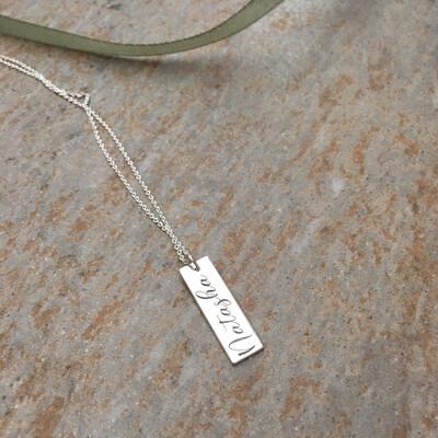 Flat Name Bar Pendant