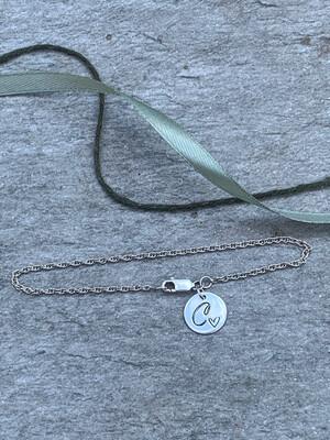 Disc Initial Bracelet