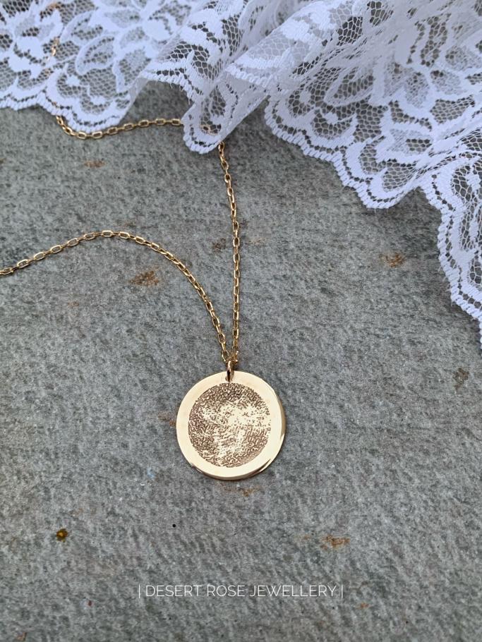 Fingerprint Disc Necklace
