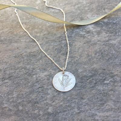 Protea Disc Necklace