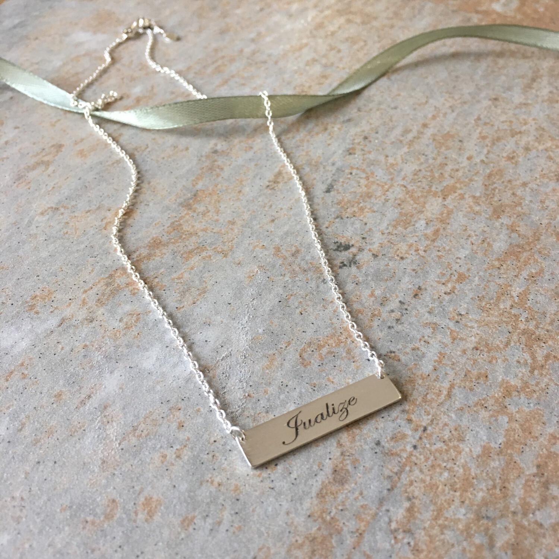 Name Flat Bar Necklace