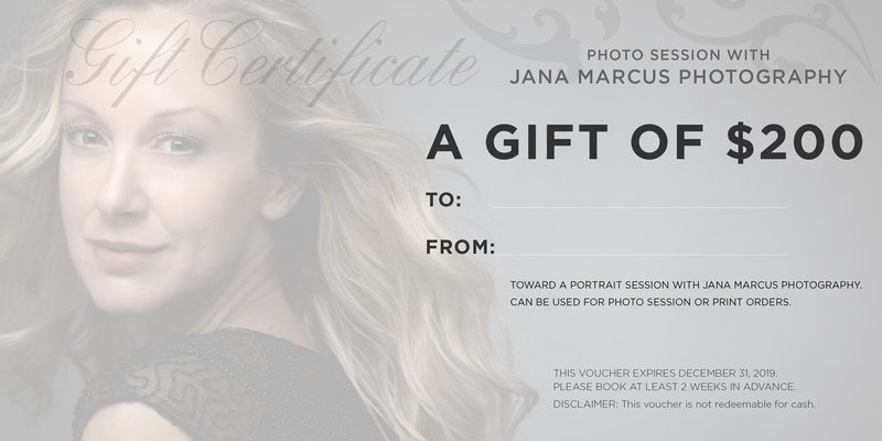 $200 Photo Session Gift Certificate