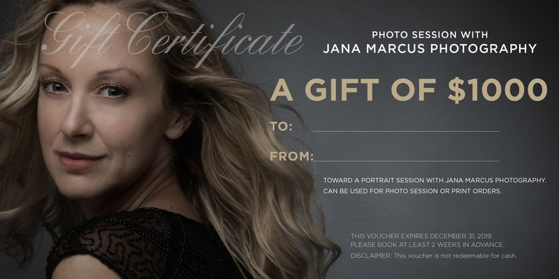 $1000 Photo Session Gift Certificate