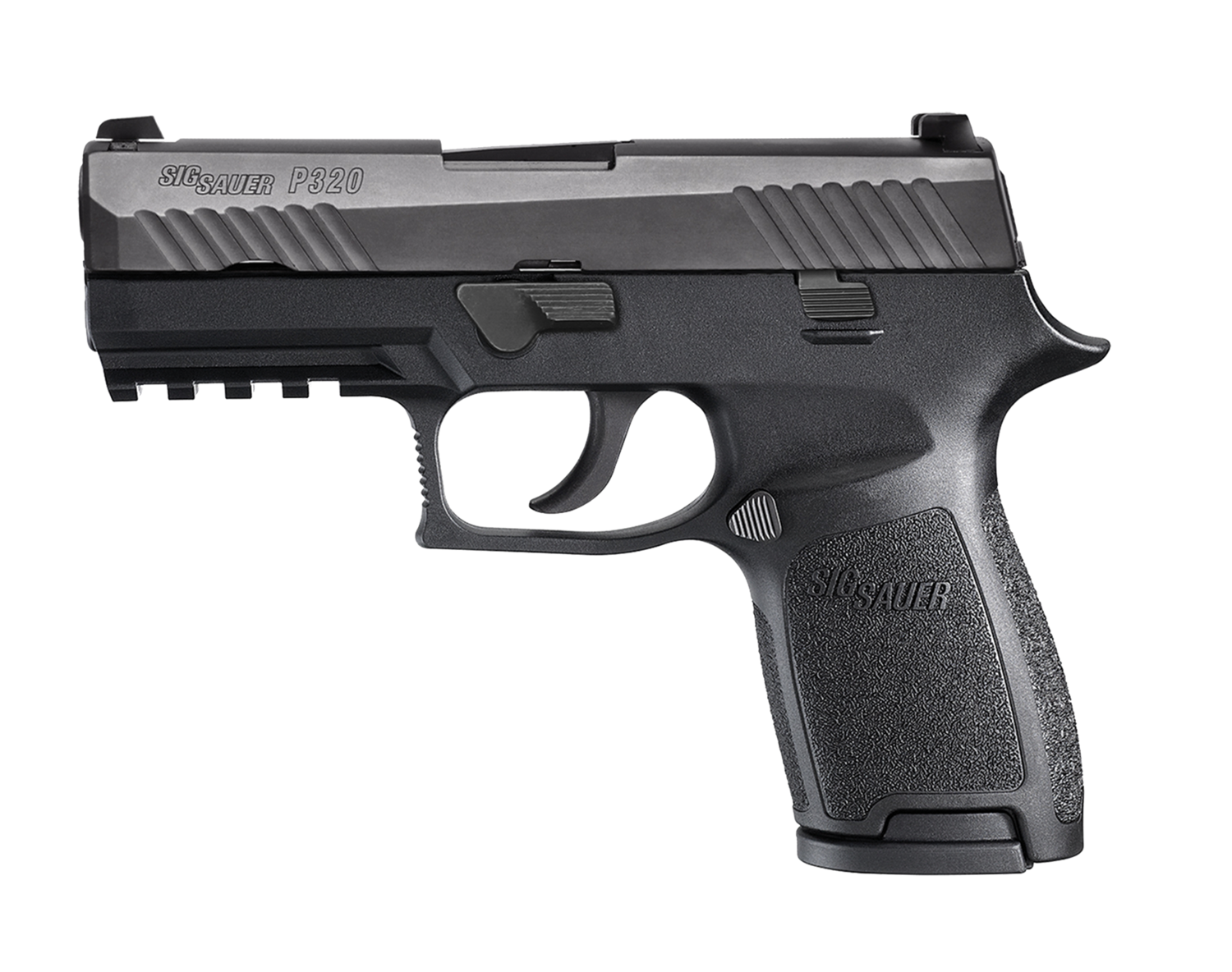 """80% Sig Sauer - P320 Compact Double - 40 Smith & Wesson (S&W) 3.9"""" 13+1 - 2 Mags - Polymer Grip - Nitron Stainless Steel - Black"""