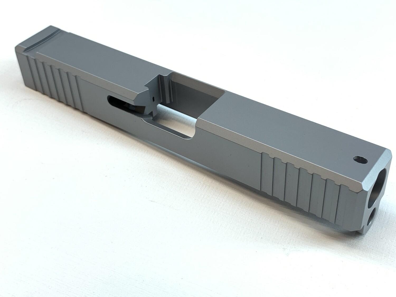 Glock 19 Slide w/ Front & Rear Serrations - Silver