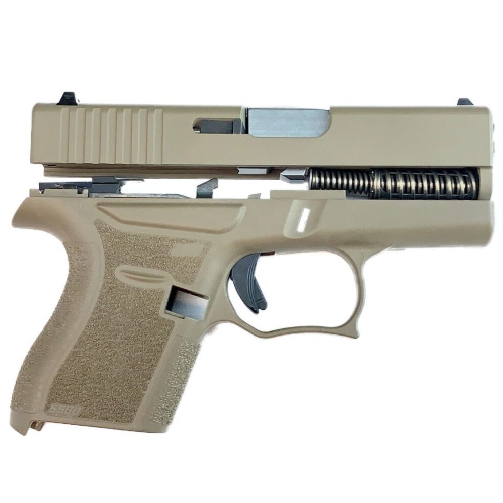 80% Glock 43 Subcompact Full Pistol Build Kit FDE