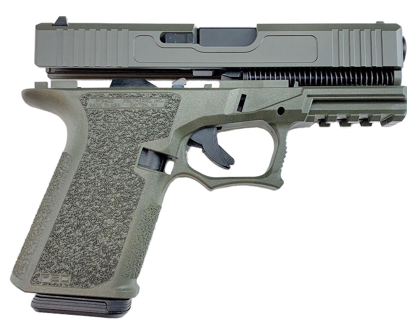 Patriot G19 80% Pistol Build Kit 9mm - Polymer80 PF940C - OD Green - FRAME NOT INCLUDED