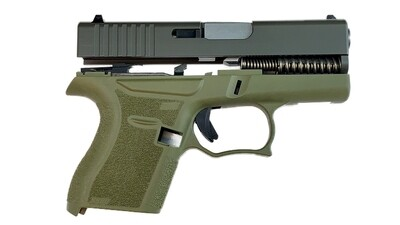 80% Glock 43 Subcompact Full Pistol Build Kit OD Green- FRAME NOT INCLUDED