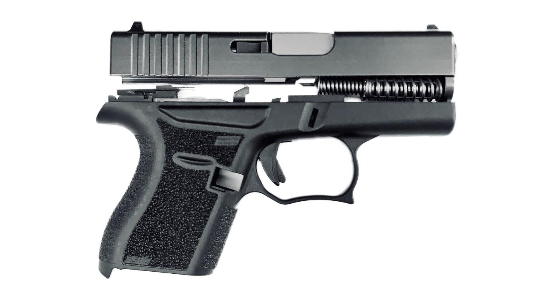 80% SS80 Glock 43 Subcompact Full Pistol Build Kit Black