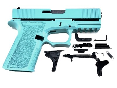 Patriot G19 80% Pistol Build Kit 9mm - Polymer80 PF940C - Robins Egg Tiffany Blue - FRAME NOT INCLUDED