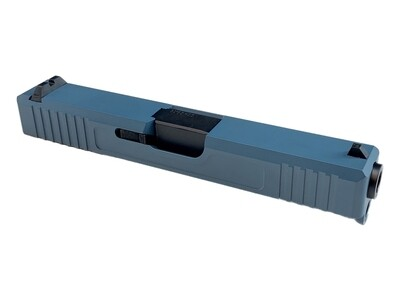 Glock 19 Slide w/ Front & Rear Serrations - Jesse James Blue