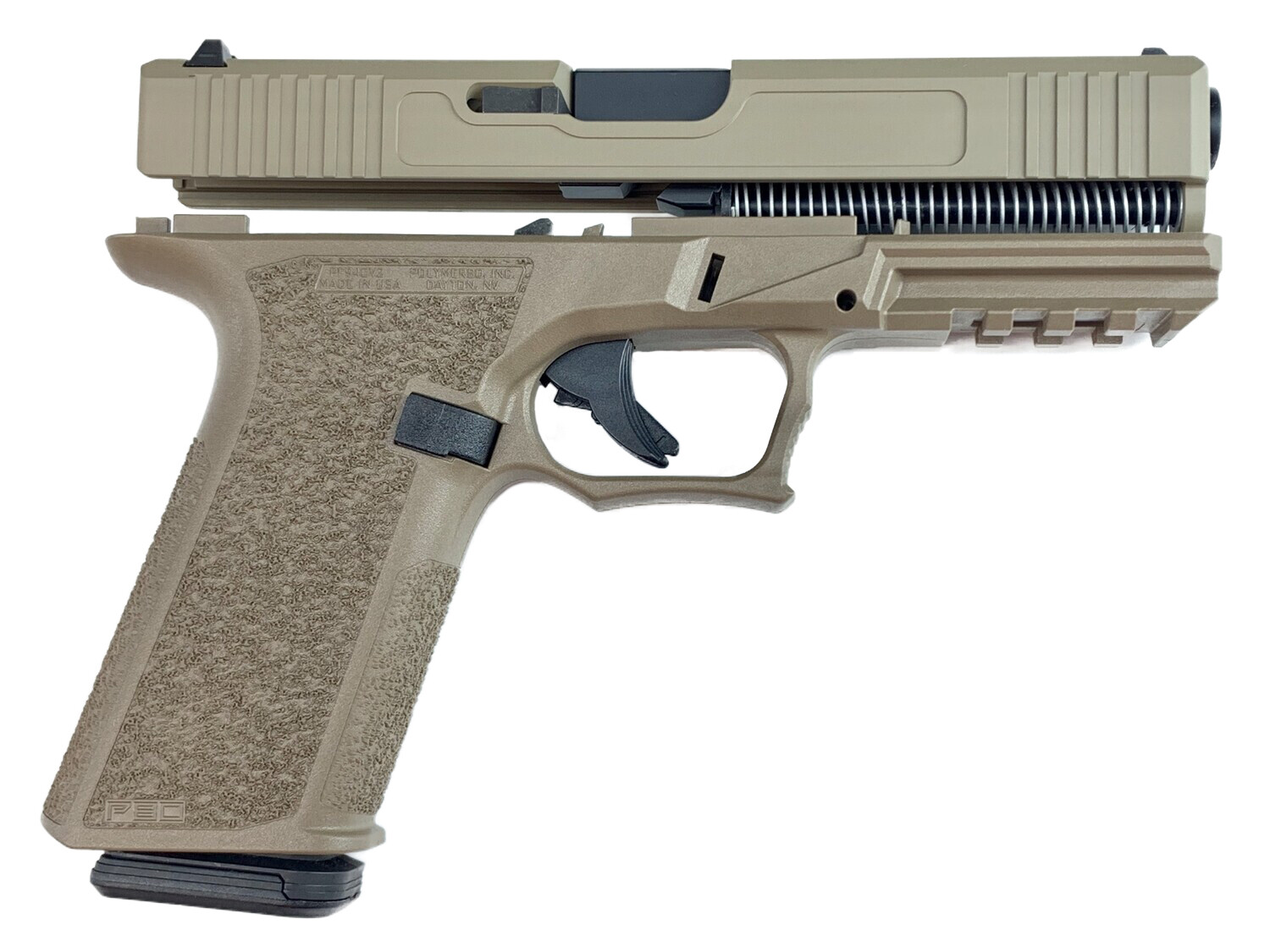 Patriot G17 80% Pistol Build Kit 9mm - Polymer80 PF940V2 - FDE