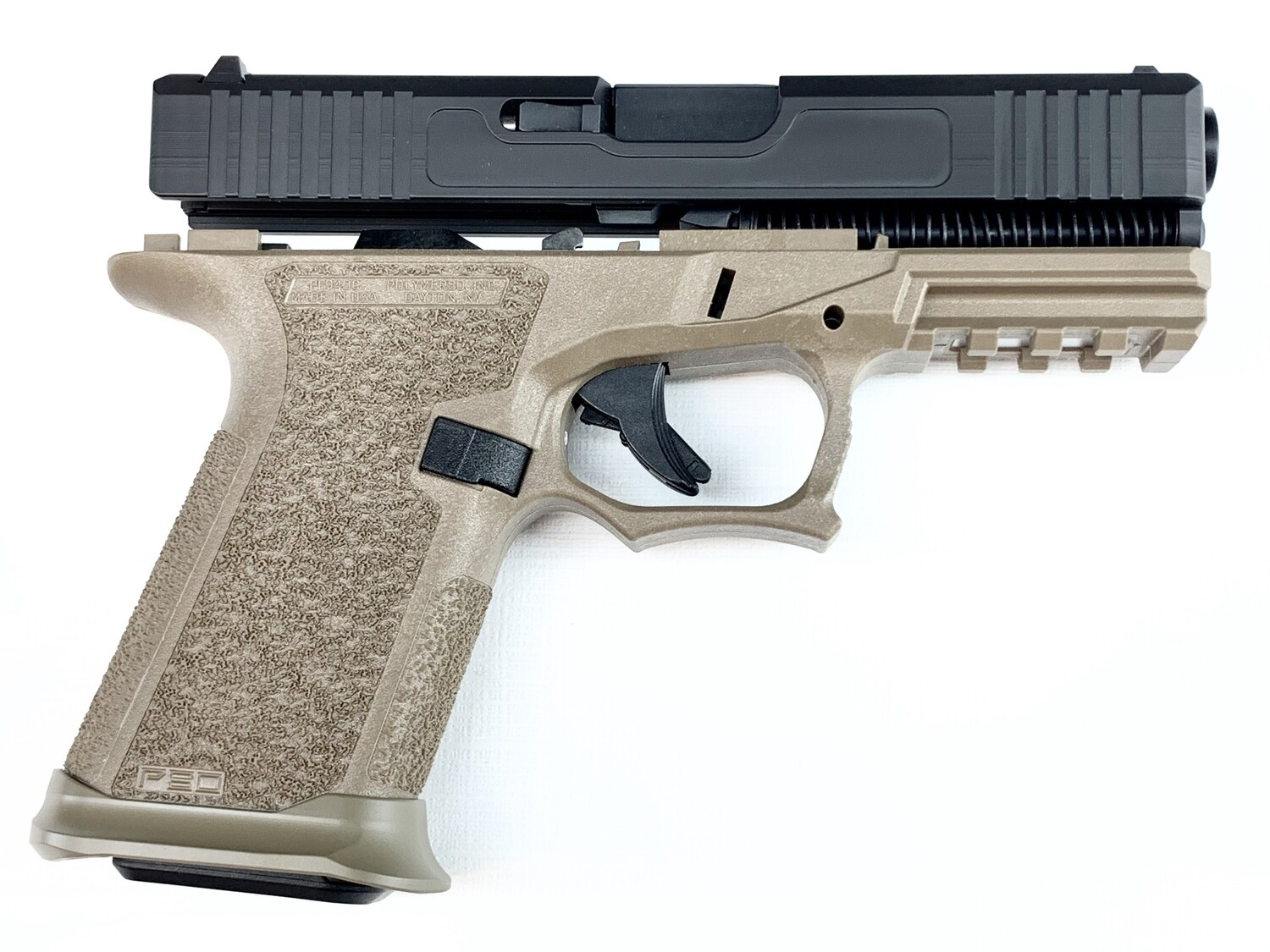 Patriot G19 80% Pistol Build Kit 9mm - Polymer80 PF940C - Black & FDE - Steel City Arsenal Magwell FDE