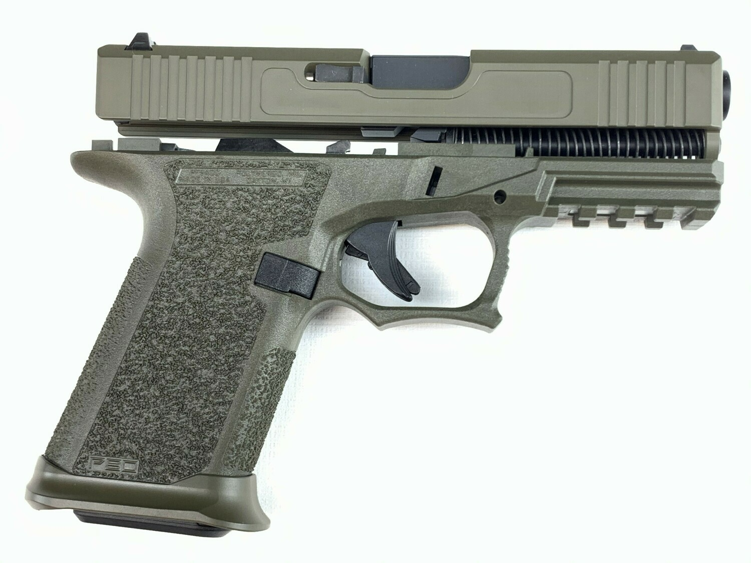 Patriot G19 80% Pistol Build Kit 9mm - Polymer80 PF940C - OD Green - Steel City Arsenal Magwell OD Green