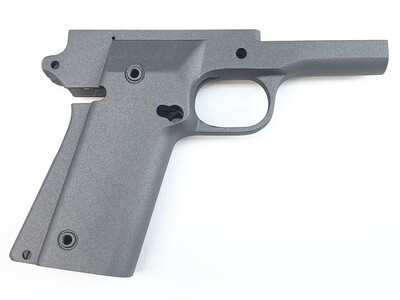 1911 80% Full Size Frame - A2 (Double Stack) 9mm Rock Ultra -  Series 70 Forged 4140 Steel, Frame Cerakoted Warrior Metal Flake Gray