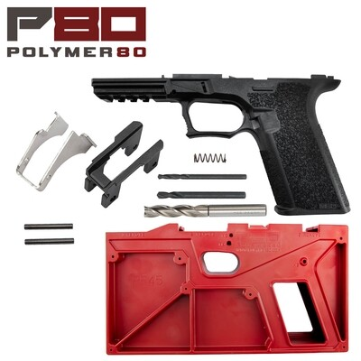 Large 80% Polymer Black Pistol Frame & Jig Kit - PF45™