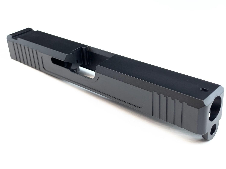 Glock 17 Slide w/ Front & Rear Serrations - Black