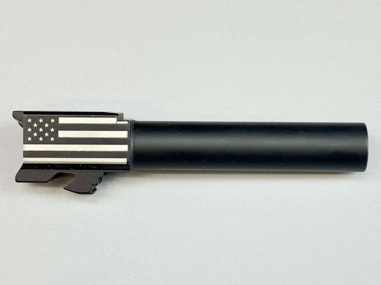Glock 19 Flag Barrel - 9mm - Black Nitride Coated
