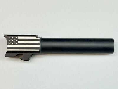 Glock 19 Flag Barrel - 9mm - Black Nitride Coated