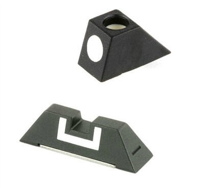 Glock OEM Poly Fixed Front & Rear Sight Set - Comes With Screw -Fits Glock 17, 19, 22, 23, 24, 26, 27, 33, 34, 35, 37, 38 & 39