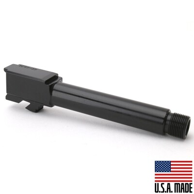 9MM Glock 19 Replacement Barrel - Black Nitride Finish -THREADED - UNBRANDED