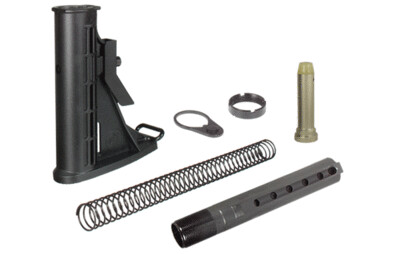 UTG PRO 6-Position Mil-spec Stock Assembly, Black