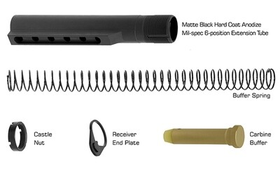 UTG PRO AR15 6-position Receiver Extension Tube Kit, Mil-spec, Matte Black