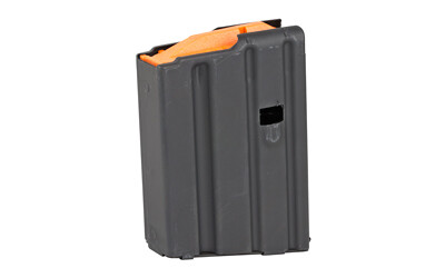 Ammunition Storage Components, Magazine, 223 Rem, Fits AR-15, 10Rd, Stainless Black, Orange Follower
