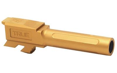 True Precision, Barrel, 9MM, Gold Titanium Nitride, Fits Glock 43/43X