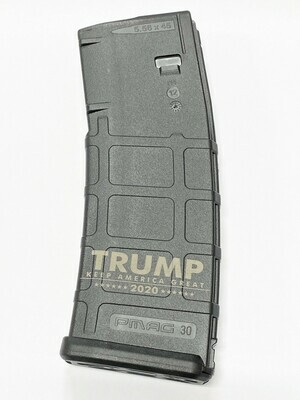 10/30 Trump Keep America Great 2020 - Magpul Pmag GEN M2 MOE AR-15 (.223/5.56) Magazine - Black