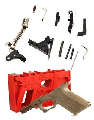 Package Deal Polymer80 PF940C Textured Frame & OEM Glock 9mm Lower Parts Kit